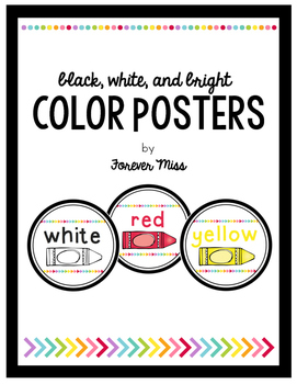 Black, White, and Bright Color Posters