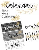 Black, White and Gold Calendar