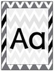 Black, White and Gray Alphabet Cards