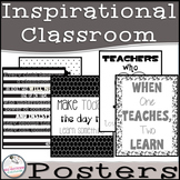 Black, White, and Gray Inspirational Teacher Quotes