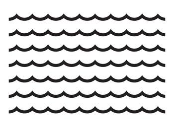 Black, White and Stylish Brights - Bulletin Board Borders