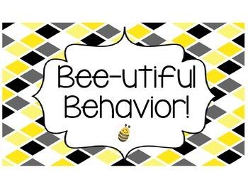 Black, White, and Yellow Behavior Clip Chart 2