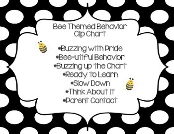 Black, White, and Yellow Behavior Clip Chart 1