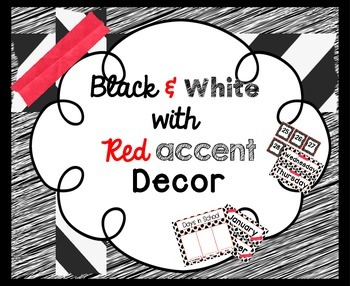Black & White with Red accents ~ Calendar