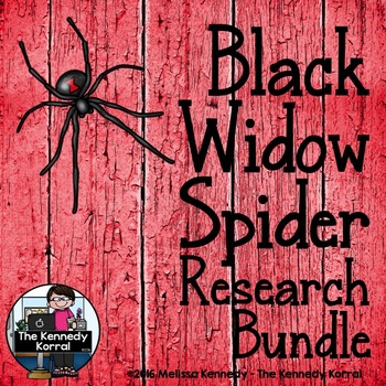 Black Widow Spider Research Bundle  {Anchor Chart, Report,