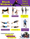 Black Widow superhero fitness - self-guided activity for P