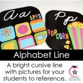Black and Bright Alphabet Line