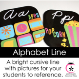 Black and Bright Alphabet Line