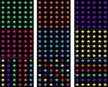Black With Colorful Stars Backgrounds