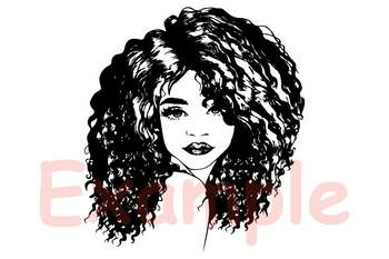 Black Woman Nubian Princess Queen Hair Beautiful African American Lady svg 143sv