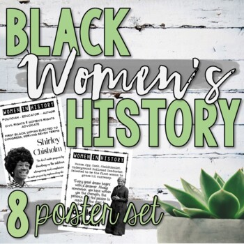 Black Women's History  (Posters, Stations, Task Cards & More!)