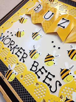 Black & Yellow Bumble Bee Theme Classroom