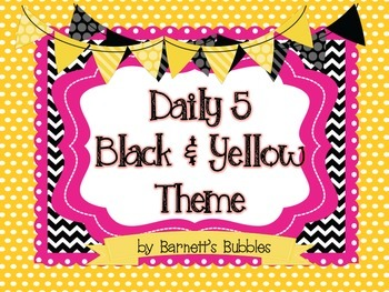 Black & Yellow Bumblebee Themed Daily 5 Posters