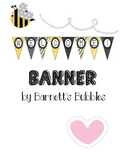Black & Yellow Bumblebee Welcome Pennant