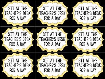 Black & Yellow Student Reward Coupons
