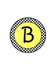 Black, Yellow, and White Circle Letters