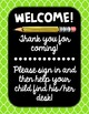 Black and BRIGHTS Open House Signs