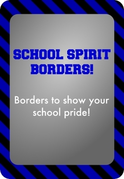 Black and Blue - School Spirit Borders 9 Pack