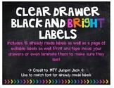 Black and Bright 3-Drawer Plastic Organizer  Labels