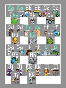 Black and Bright Classroom Alphabet