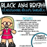 Black and Bright Classroom Decor Bundle