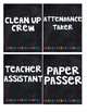 Black and Bright Classroom Jobs (editable)
