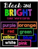 Black and Bright Color Word Cards