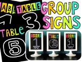 Black and Bright Group Table Signs for IKEA Frame