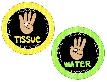Black and Bright Hand Signal Signs