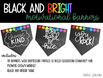 Black and Bright Motivational Banners