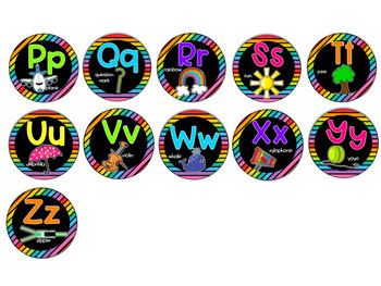 Black and Bright Classroom Alphabet