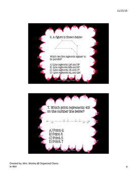 Black and Bright STAAR MATH PREP TASK CARDS (4th Grade) TEKS BASED!