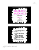 Black and Bright STAAR MATH PREP TASK CARDS (4th Grade) TE