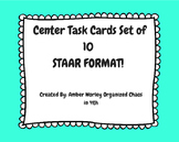 STAAR MATH PREP TASK CARDS Set of 10 (4th Grade) TEKS BASED!