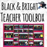 Teacher Toolbox Labels Black and Bright