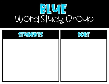 Black and Bright Word Study and Spelling Group Posters