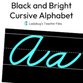 Black and Bright ZB Cursive Alphabet Line