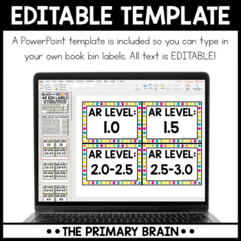 Black and Brights Accelerated Reader Classroom Library EDITABLE Book Bin Labels