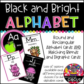 Black and Brights Alphabet