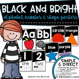 Black and Brights Alphabet, Shape, Color & Number Posters