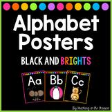 Black and Brights Alphabet Posters (Manuscript)