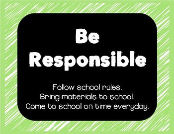 CLASSROOM RULES black and brights series {FREEBIE}