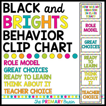 Black and Brights Behavior Clip Chart
