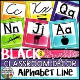 Black and Brights Classroom Decor Alphabet Line