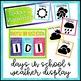 Black and Brights Classroom Decor: Calendar Set