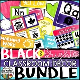 Black and Brights Classroom Decor Kit