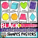 Black and Brights Classroom Decor Shape Posters
