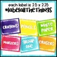 Black and Brights Classroom Decor Supply Label Templates