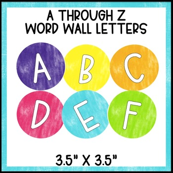 Black and Brights Classroom Decor: Word Wall Set