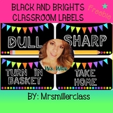 Black and Brights Classroom Labels - FREEBIE